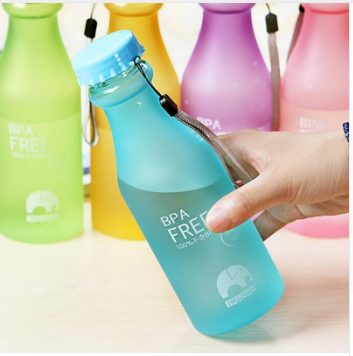 Unbreakable Travel Yoga Leak-proof Frosted Plastic Cup Sports Water Bottle