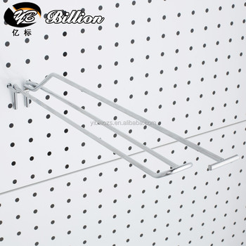wholesale chrome wire display pegboard hook double price tag hooks for peg - Pegboard Hooks