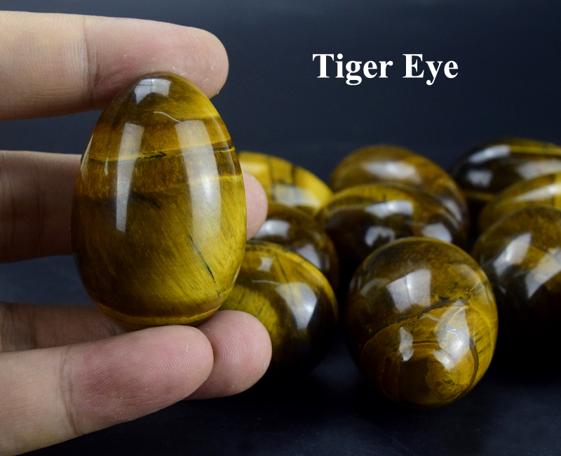 (Drilled or Undrilled) wholesale natural tiger eye eggs, semi-precious stone eggs for sale