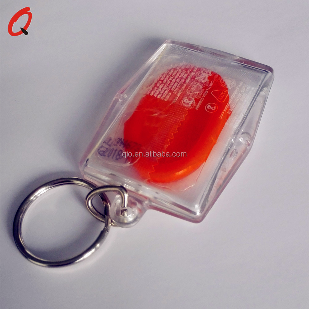 promotion acrylic keychain with condom holder