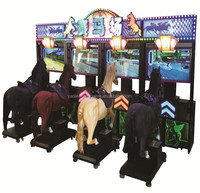 New Style GoGo Jockey Horse Riding 4 Players Racing Game Machine