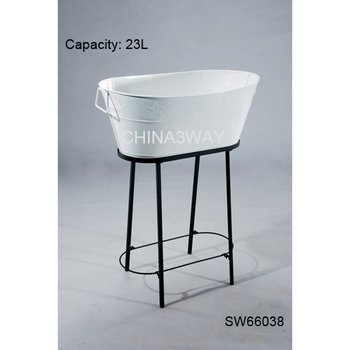 Fabulous Metal Galvanized Beverage Tub With Stand - Buy Large Metal Tub  MT16