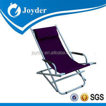 Canvas JD 4006 Leisure Foldable Camping Rocking Chair For Picnic