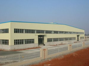 low cost prefabricated steel structure building / pre-fab iron buildings