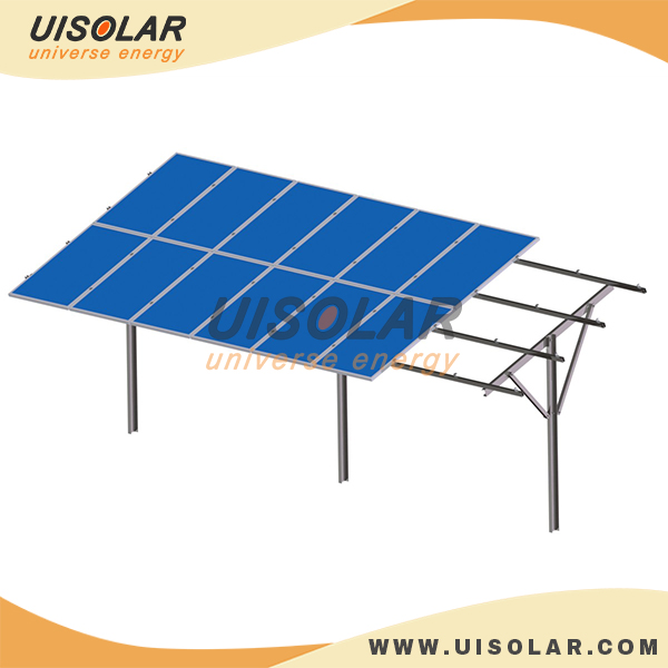 Single pole structure solar ground mounting