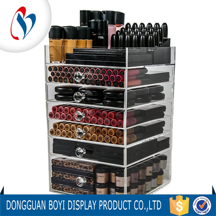 Cosmetic Drawer Organizer for Wholesales Acrylic Makeup Storage Boxes