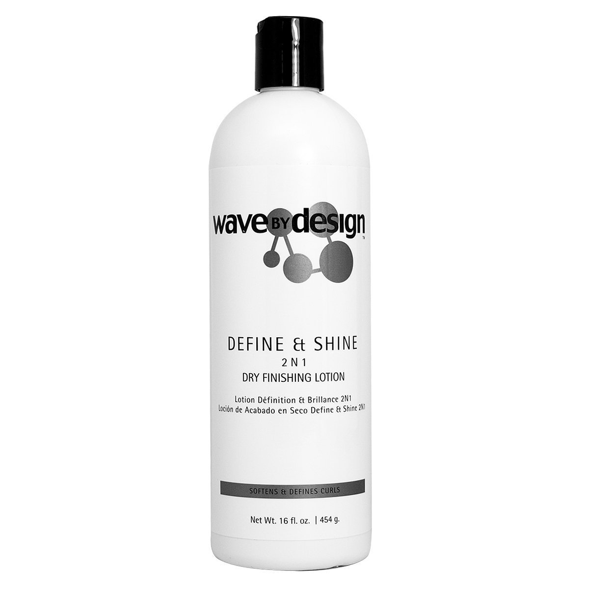 """Wave by Design Define & Shine 2 N 1 Dry Finishing Lotion 16oz """"Pack of 2"""""""