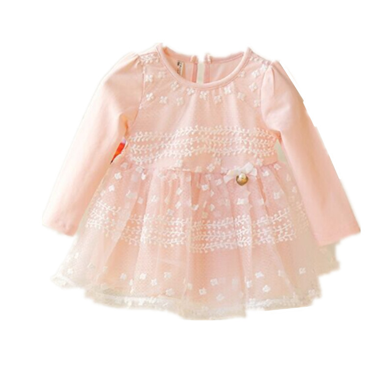a1747f04d6b2 Get Quotations · 2015 Spring Infant Baby Girl Dress Cute Girls Long Sleeve  Lace Princess Dress For 6 months