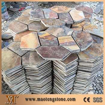 Cutural Rust Slate Paver Tile Dragonfly Stepping Stone
