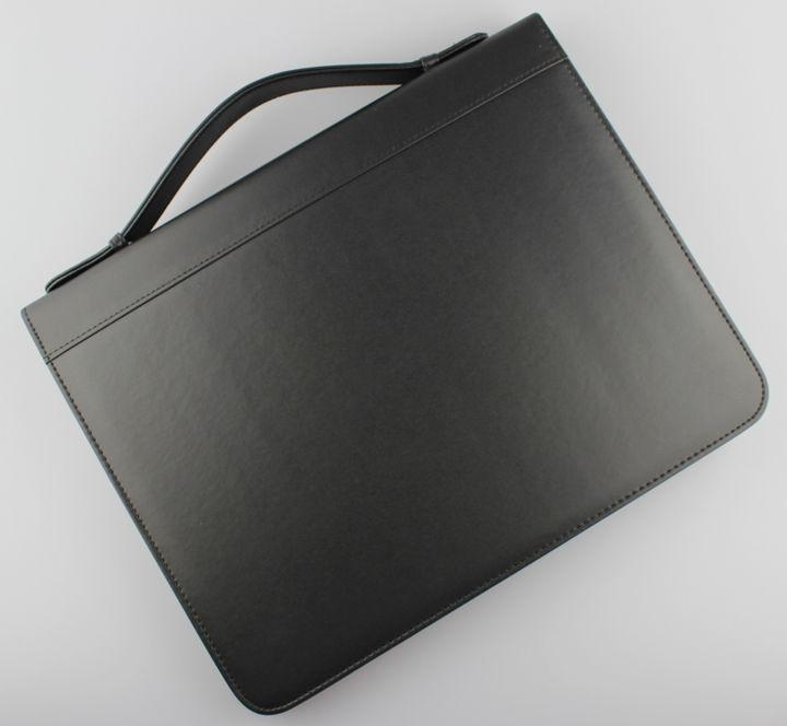 2019 a4 zipper business pu leather file folder manager bag briefcase