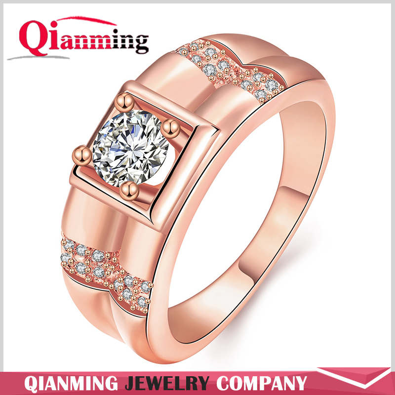Stunning Created Gorgeous Women's Red Marquise Cut CZ 18K Gold Topaz Filled Engagement Ring for Wedding Accessories
