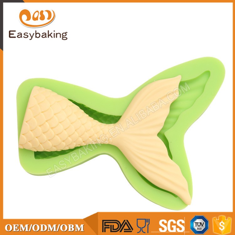 ES-0701S Small Fish Tail Silicone Molds Fondant Mould for cake decorating