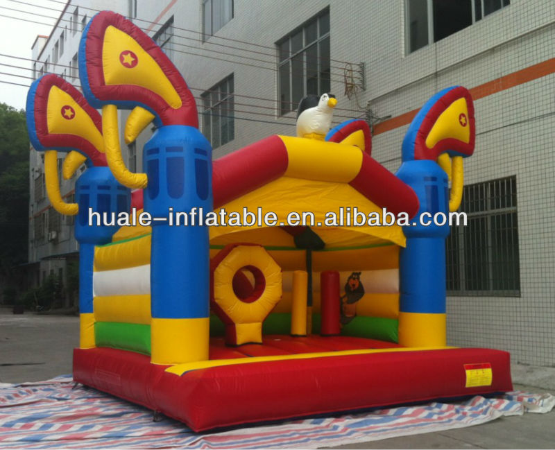 Hot sale Inflatable bouncer with obstacle /Best quality inflatable bouncy castle