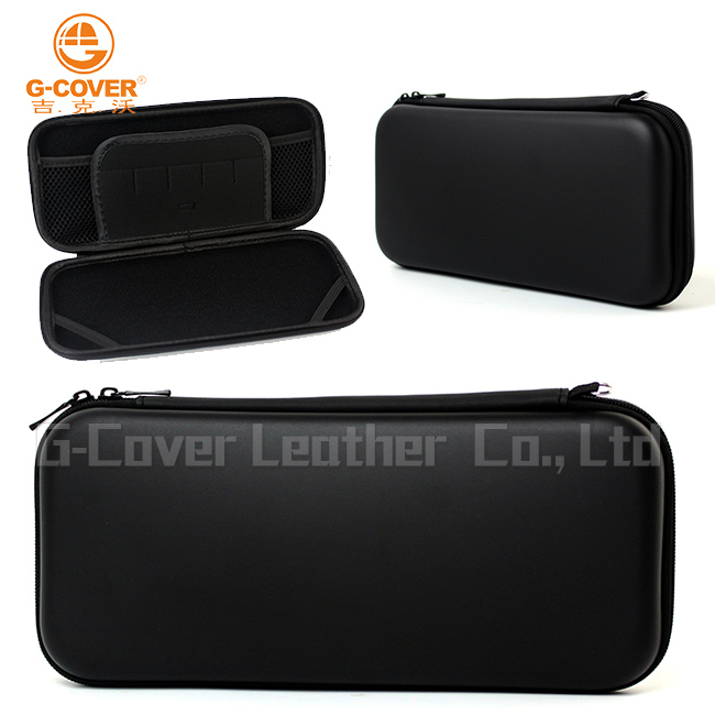 carrying Case Bag with mesh pocket for Nintendo Switch ,zipper and handwrist - Water resistant in black