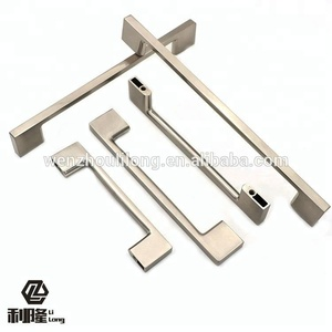 LILONG Modern simple style cheap furniture hardware aluminum & zinc alloy drawer pull furniture kitchen cabinet handle