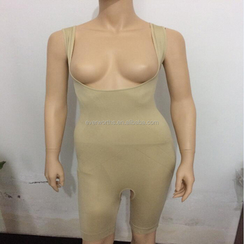 123d959eb49 Amazon Hotsell Women Seamless Shapewear Slimming Bodysuit Open Bust Body  Shaper Stomach and Thighs Slimmer Bodysuit