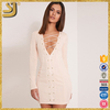 ShangYi vintage casual club white bodycon sexy dress for women