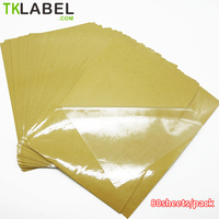 80 sheets A4 Clear Transparence Film Self Adhesive Sticker Paper For Laser Printer 2.5ml