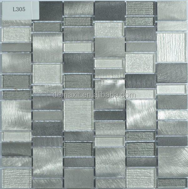 Metal mezclado textura brillante vidrio agrietado mosaico para ...