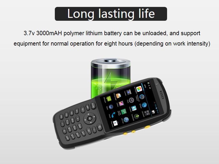 Sağlam el depo stok almak PDA lazer barkod tarayıcı ile