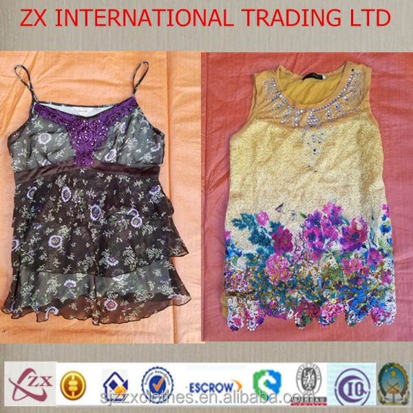 2016 new fashion used ladies clothing dress branded used clothes for women