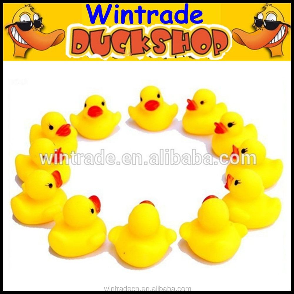 Hot selling Bath toy rubber duck small baby toys