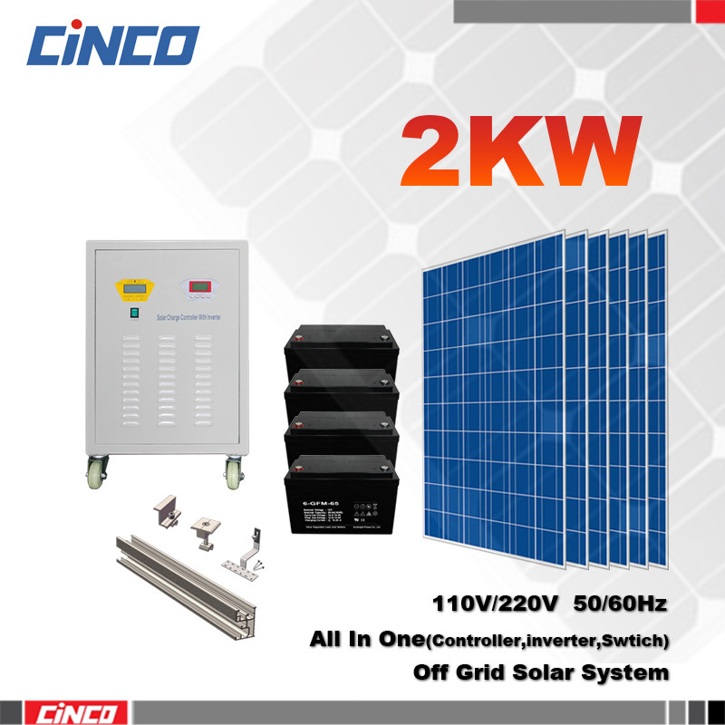 2kw independent home solar power mounting system with easy installation ,home solar electricity generation system