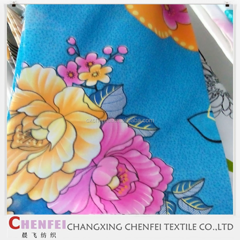 Microfiber Double Brushed Polyester Fabric Pigment Printed Popular Soft 100% Polyester Suiting Fabric For Garment