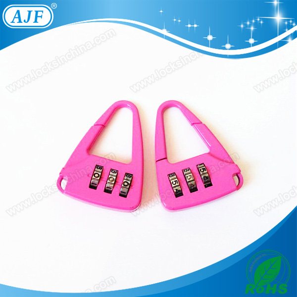 AJF 3 digits cheap mini shiny cute dial padlock as christmas gift giveaway gift