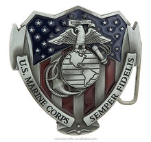 Customized metal belt buckle military buckles with logo