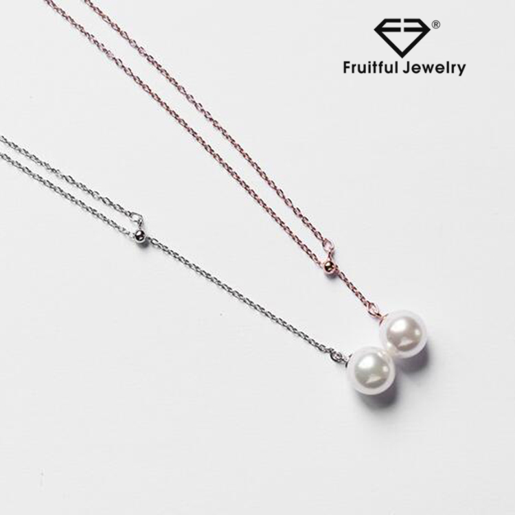 Wholesale custom jewelry 925 sterling silver pearl tassel necklace