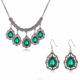 Cheap Green Glass Stone Kundan Jewelry Sets India Bollywood Kundan Necklace And Earring Set