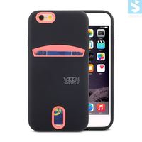 Card Slot Rainbow Plastic Case for APPLE iPhone 6 6s, custom cell phone case