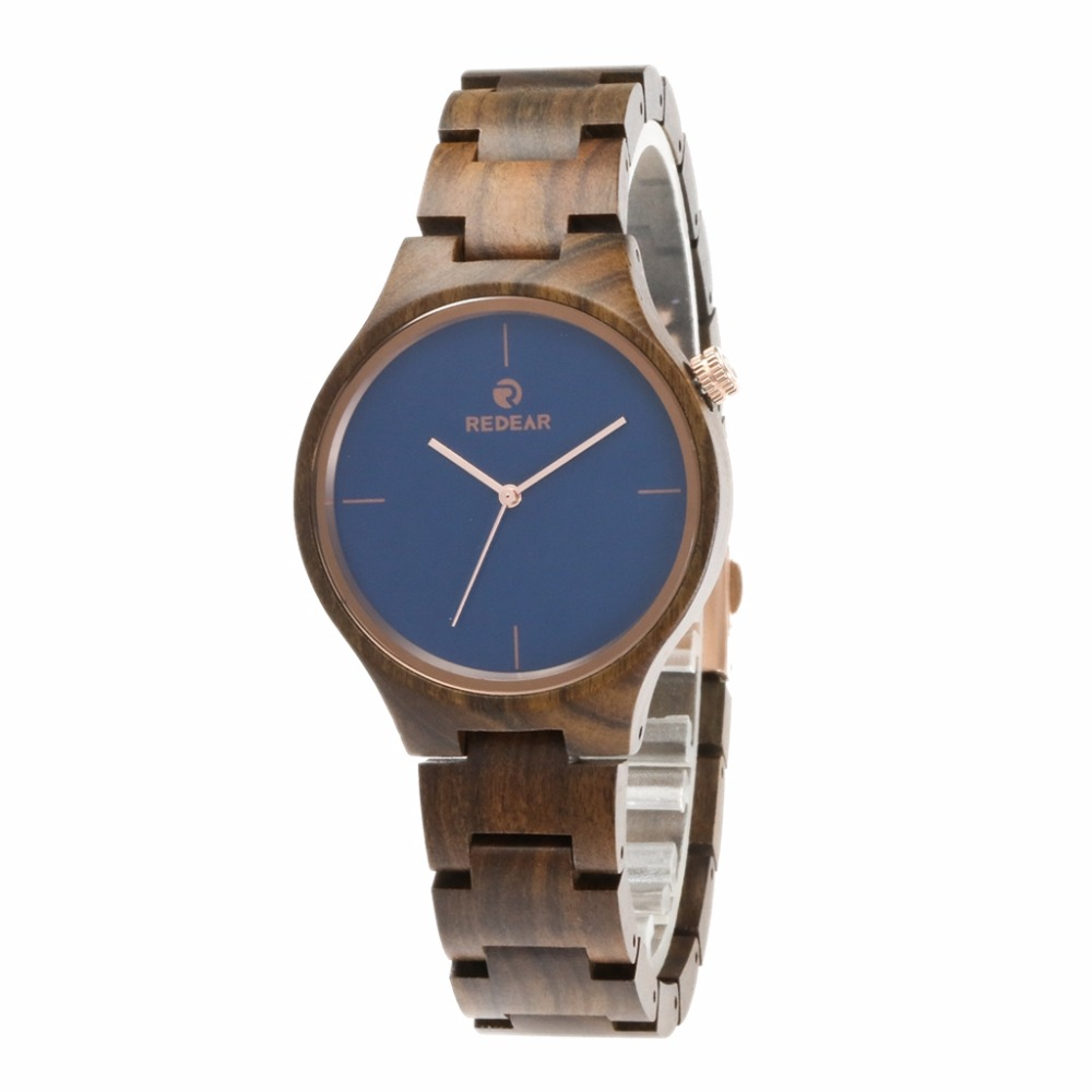 2018 promote products black sandalwood custom wood watch with wrist wood band from Shenzhen watch factory. Reloj de madera...