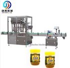 Hot selling automatic four nozzles peanut butter filling machine for 50ml to 1000ml with the speed of 40 bags/min
