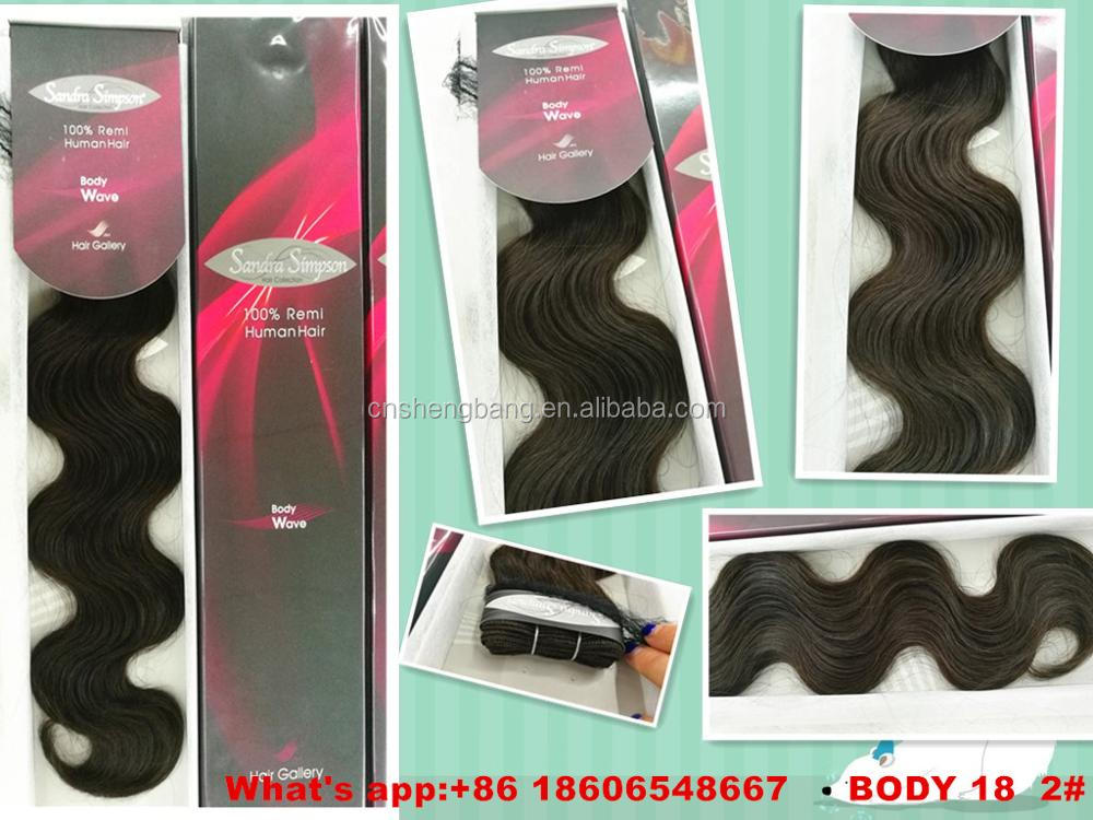 "Promotion! stocked weft Body wave 18"" and 22"" brown color 2# 8a brazilian body wave hair"