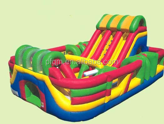 Bouncy castle, Obstacle course inflatable kids cheap amusement park rides for sale