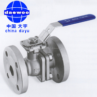 SS 316L DIN flangd ball valve with direct mounting pad
