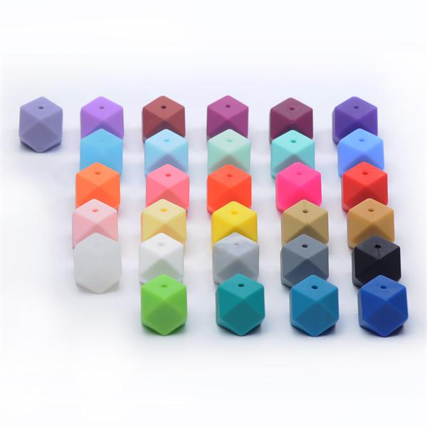 Silicone Teething Beads Wholesale Baby Teething Beads Colorful Sensory Toys For Chewing