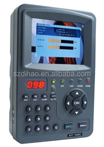 DIHAO Best Selling KPT968G full digital <strong>satellite</strong> finder meter prices with dvb s/s2/mpeg4 signal