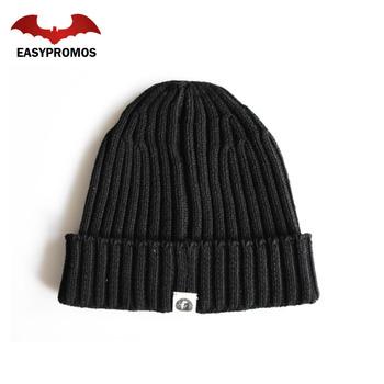c2ae2530c4a Knitted Beanie with Custom Label Custom Beanie Hat Label Woven Beanie