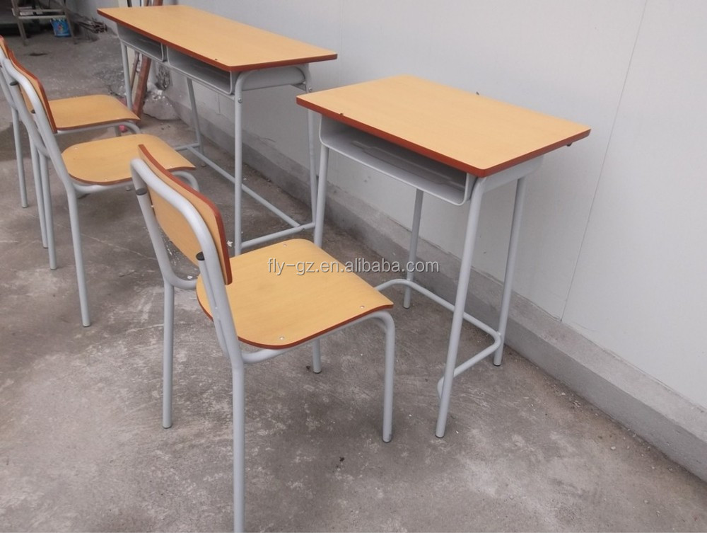 cheap wooden single student desk and chairs for school furniture on sale buy school furniture. Black Bedroom Furniture Sets. Home Design Ideas