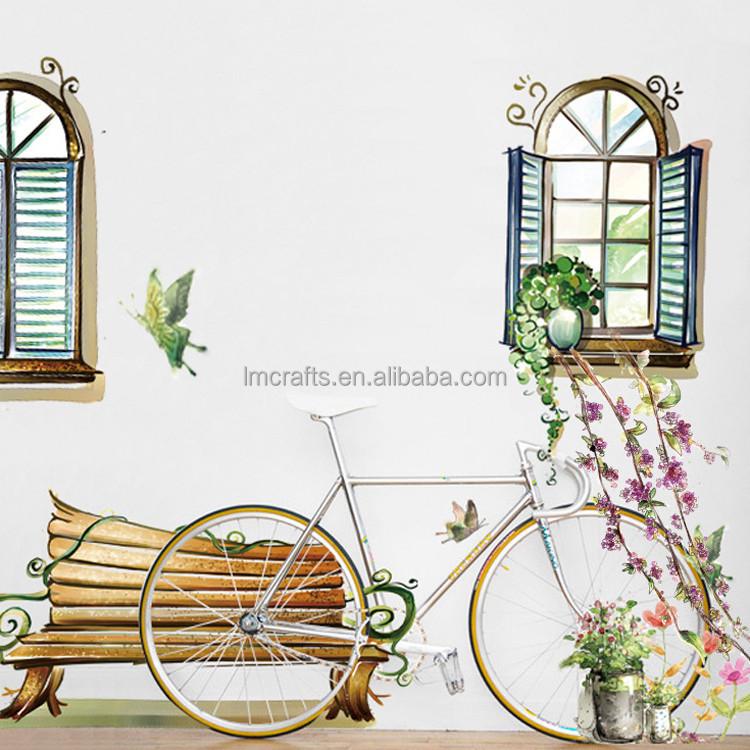 3d falsa finestra rimovibile poster da parete decorativi per soggiorno camera da letto adesivi - Adesivi da parete camera da letto ...