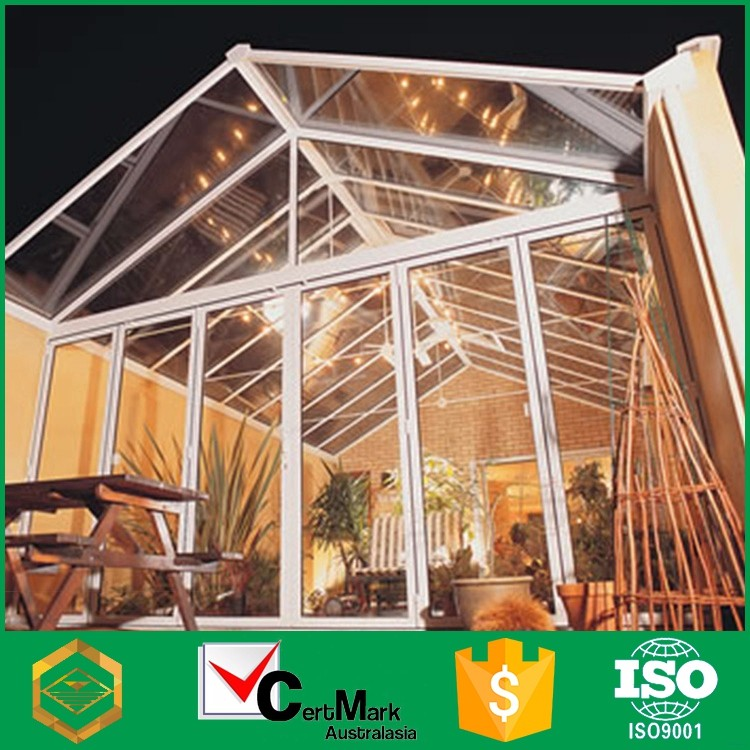 Prefabricated glass winter garden sunroom price buy sun for Prefab glass house prices