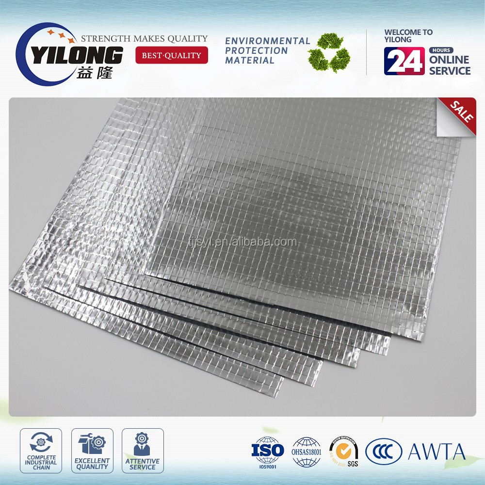 Faced laminated reinforced aluminum foil faced woven fabric scrim
