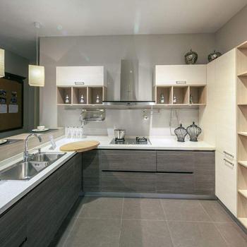 L Shape Top Grade Economic Melamine Laminate Kitchen Cabinet Glass Doors -  Buy Laminate Kitchen Cabinet,Laminate Kitchen Cabinet,Laminate Kitchen ...