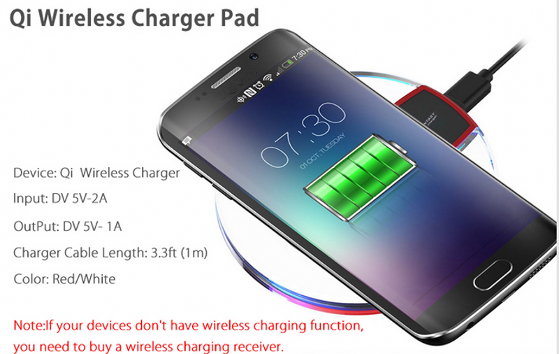 iphone qi charging stand. fantasy qi wireless charger crystal ufo shape charging pad with led light for iphone 8 stand s