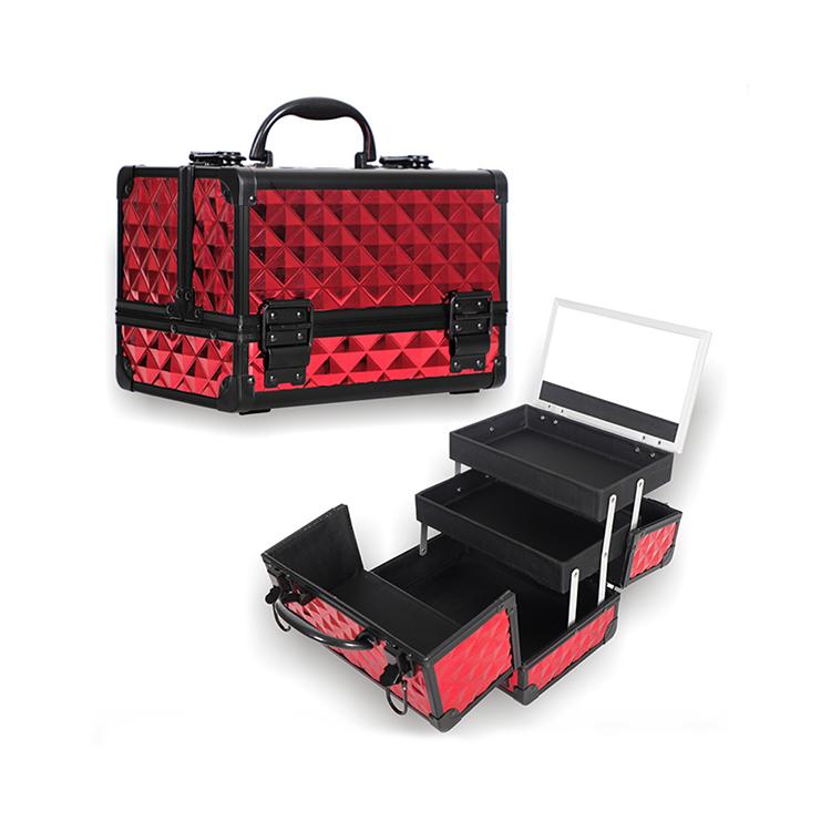 Professional Aluminum Cosmetic Cases Make Up Boxes Artist Organizer Kit Makeup Train Case