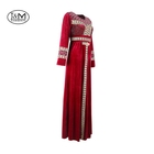 JM-11G Low price KS korea velvet fabric Muslim clothing Dubai casual women Abaya Maxi Muslim lady Dress