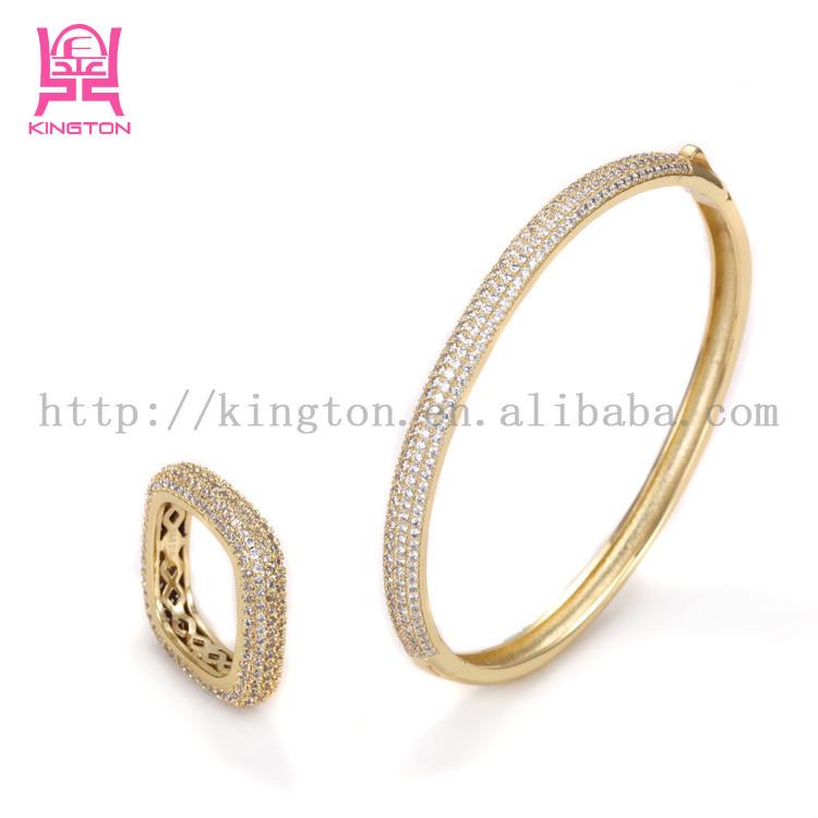 Newest Design Gold Bangles Dubai Stones Set Bangle - Buy Gold ...
